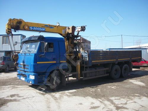 Автомобиль бортовой с КМУ, на базе Камаз 65117-N3