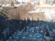 Работы по устройству котлована объекта капитального строительства, в шпунтовом ограждении 30 тыс куб метров, устройство основания из щебня, срубка свай., Устройство котлована, основания из щебня, срубка свай.